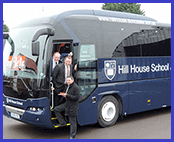 hill house school using buckleys private hire coach